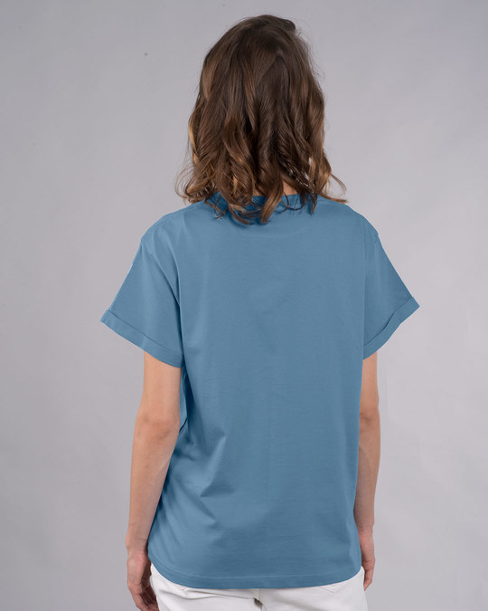 Shop Traveller Mickey Boyfriend T-Shirt (DL)-Back