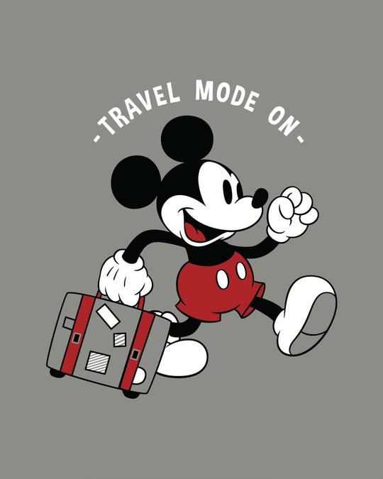 Shop Traveller Mickey Fleece Light Sweatshirt (DL)-Full
