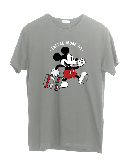 Shop Traveller Mickey Half Sleeve T-Shirt (DL)-Front