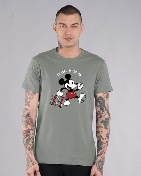 Shop Traveller Mickey Half Sleeve T-Shirt (DL)-Front