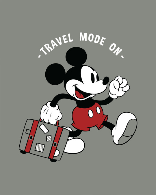Shop Traveller Mickey Half Sleeve T-Shirt (DL)