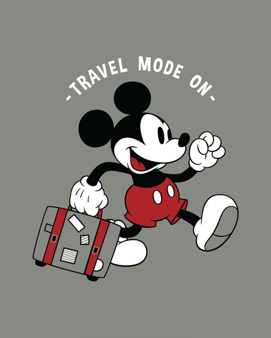 Shop Traveller Mickey Half Sleeve T-Shirt (DL)-Full