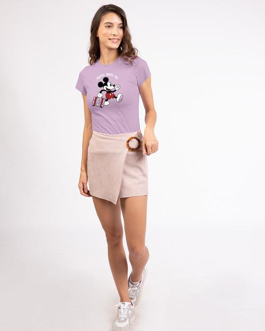 Shop Traveller Mickey Half Sleeve T-Shirt (DL)-Design