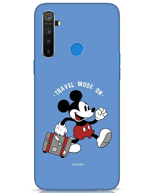 Shop Traveller Mickey Realme 5 Mobile Cover (DL)-Front