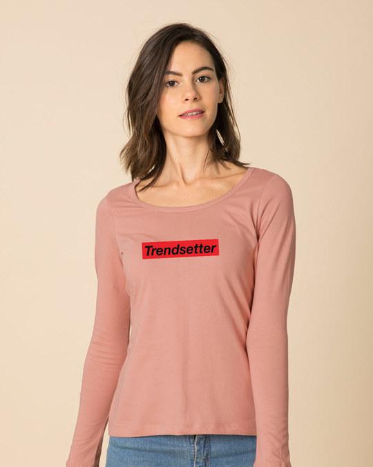 Shop Trendsetter Scoop Neck Full Sleeve T-Shirt-Front