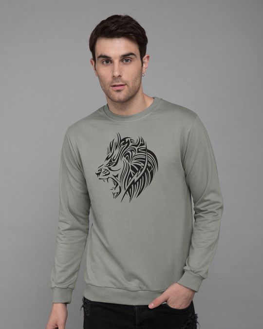 Shop Tribal Lion Fleece Light Sweatshirt-Front