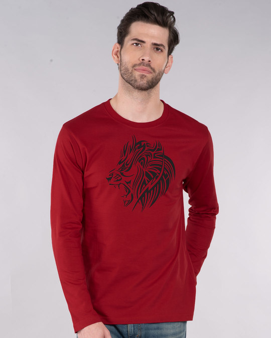 Shop Tribal Lion Full Sleeve T-Shirt-Front