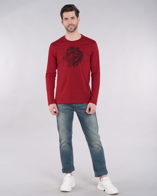 Shop Tribal Lion Full Sleeve T-Shirt-Design