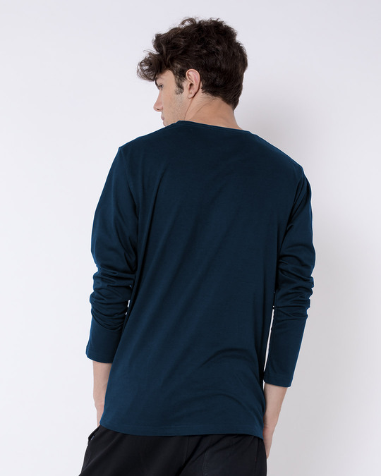 Shop Trickster Loki Full Sleeve T-Shirt Navy Blue-Back
