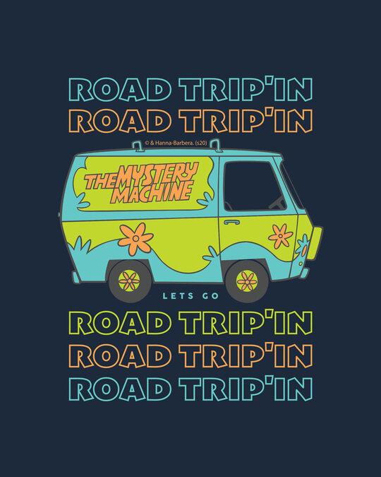 Shop Trip'in mystery machine Half Sleeve T-Shirt Navy Blue-Full