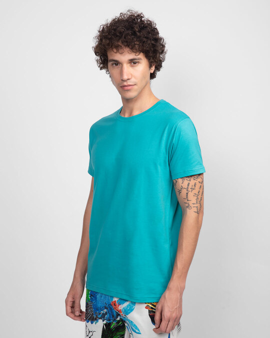 Shop Tropical Blue Half Sleeve T-Shirt-Design
