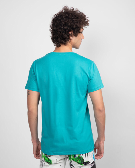 Shop Tropical Blue Half Sleeve T-Shirt-Full