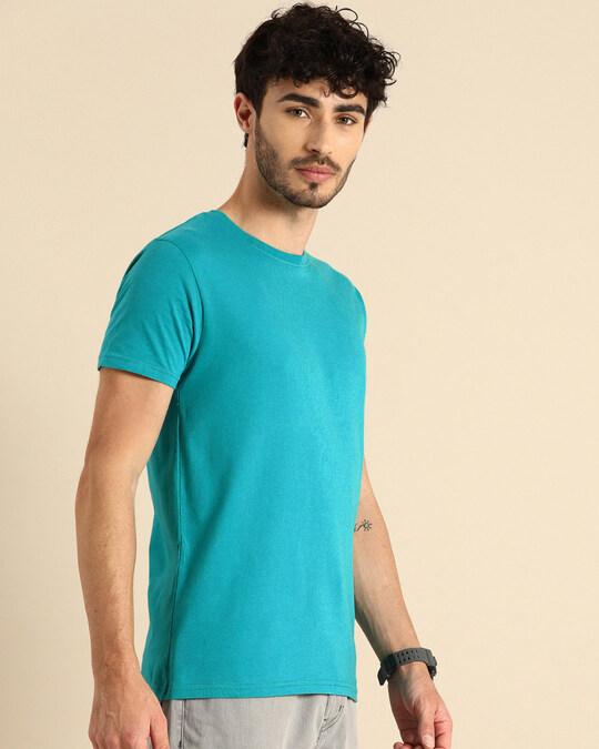 Shop Tropical Blue Half Sleeve T-Shirt-Design