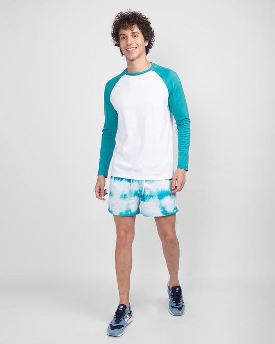 Shop Tropical Blue-White Full Sleeve Raglan T-Shirt