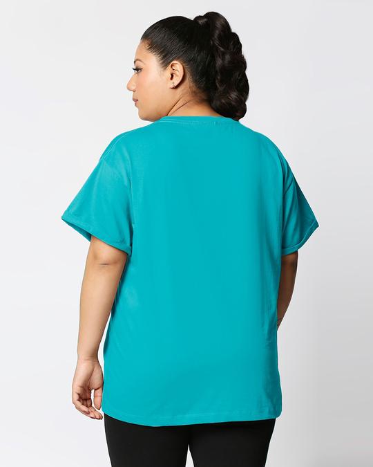 Shop Tropical Blue Women's Boyfriend Plain T-Shirt Plus Size-Design