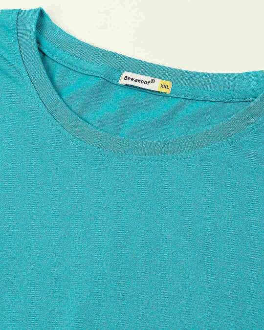 Shop Tropical Blue Women's Boyfriend Plain T-Shirt Plus Size