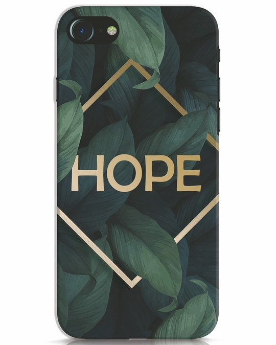 Shop Tropical Leaves Hope iPhone 7 Mobile Cover-Front