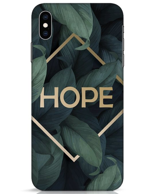 Shop Tropical Leaves Hope iPhone XS Max Mobile Cover-Front