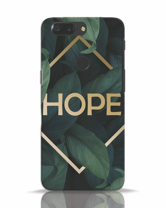 Shop Tropical Leaves Hope OnePlus 5T Mobile Cover-Front