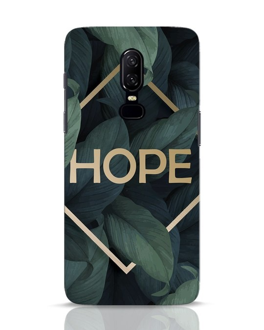 Shop Tropical Leaves Hope OnePlus 6 Mobile Cover-Front
