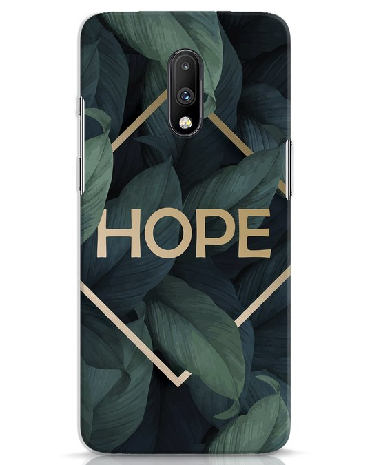 Shop Tropical Leaves Hope OnePlus 7 Mobile Cover-Front