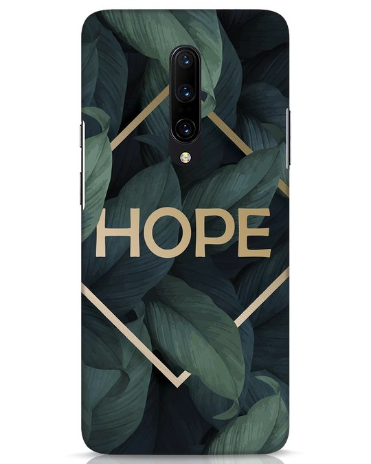 Shop Tropical Leaves Hope OnePlus 7 Pro Mobile Cover-Front