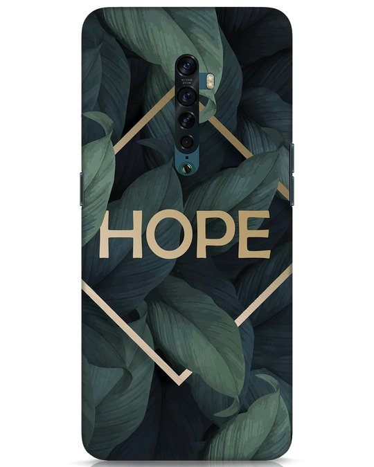 Shop Tropical Leaves Hope Oppo Reno 2 Mobile Cover-Front