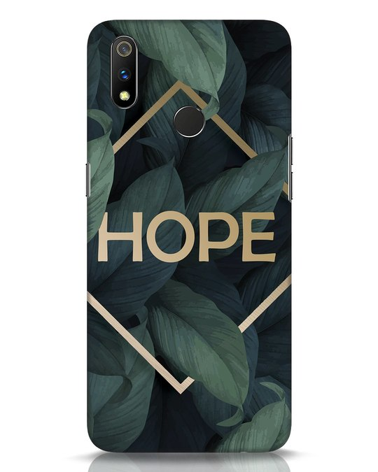 Shop Tropical Leaves Hope Realme 3 Pro Mobile Cover-Front