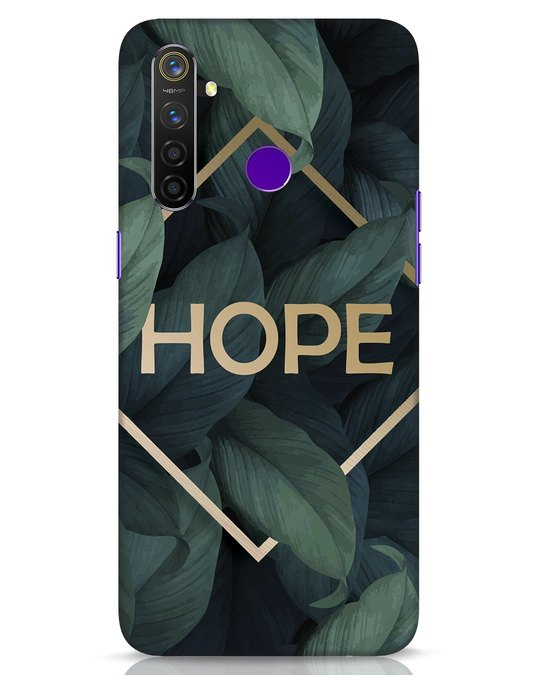 Shop Tropical Leaves Hope Realme 5 Pro Mobile Cover-Front