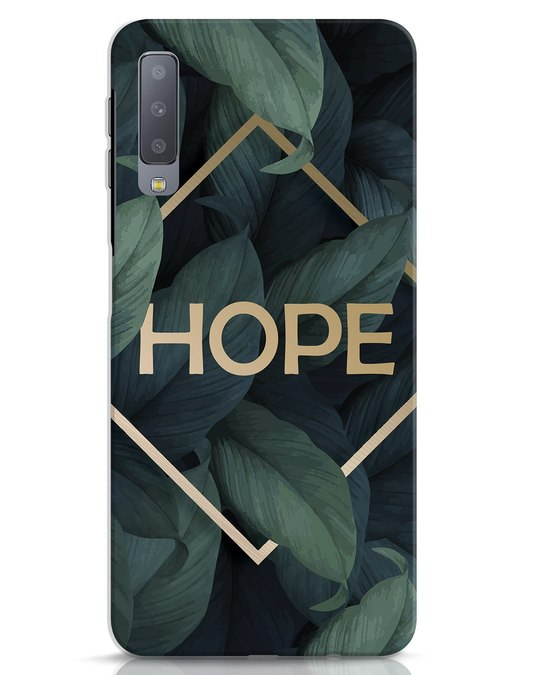 Shop Tropical Leaves Hope Samsung Galaxy A7 Mobile Cover-Front
