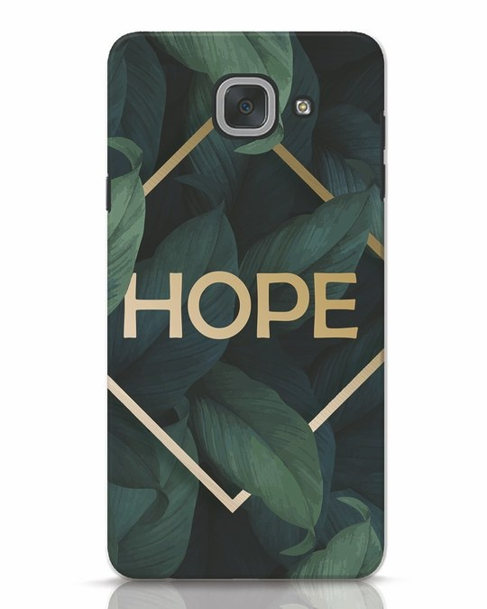 Shop Tropical Leaves Hope Samsung Galaxy J7 Max Mobile Cover-Front