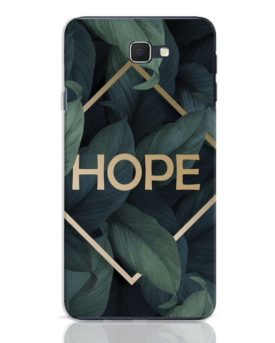 Shop Tropical Leaves Hope Samsung Galaxy J7 Prime Mobile Cover-Front
