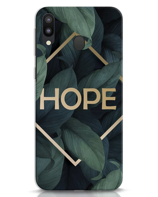 Shop Tropical Leaves Hope Samsung Galaxy M20 Mobile Cover-Front