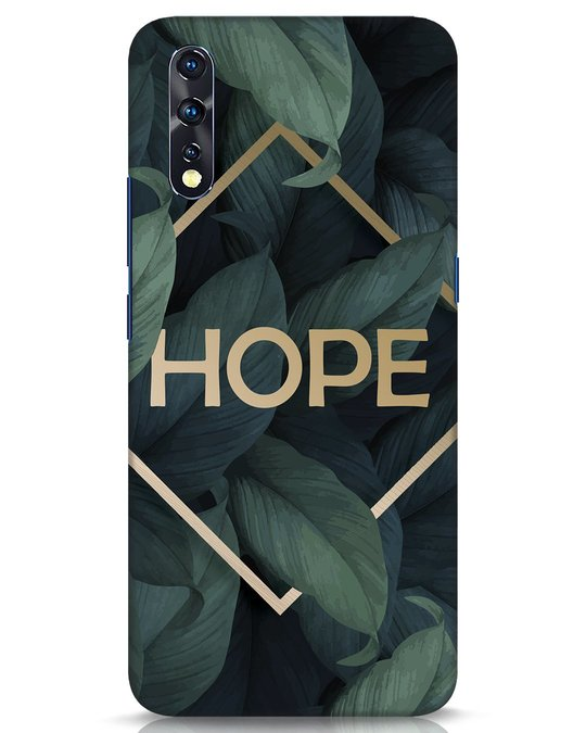 Shop Tropical Leaves Hope Vivo Z1x Mobile Cover-Front