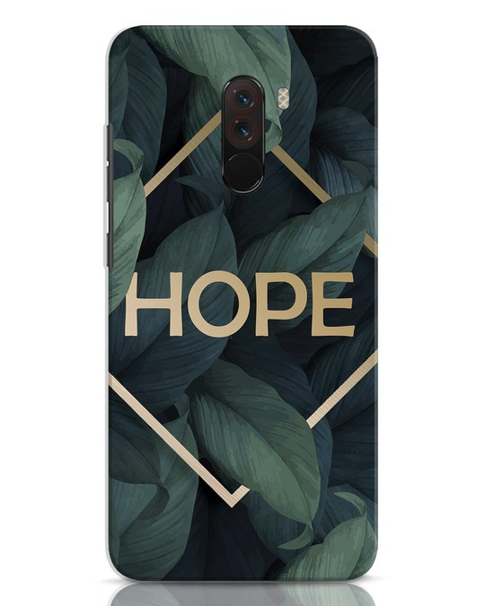 Shop Tropical Leaves Hope Xiaomi POCO F1 Mobile Cover-Front