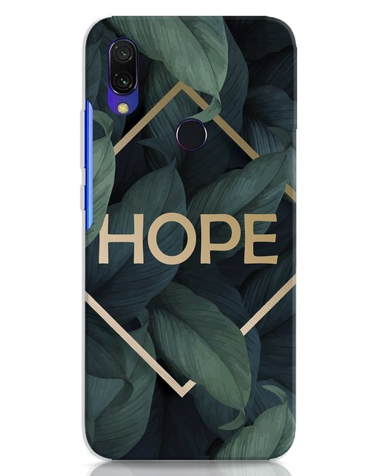 Shop Tropical Leaves Hope Xiaomi Redmi 7 Mobile Cover-Front
