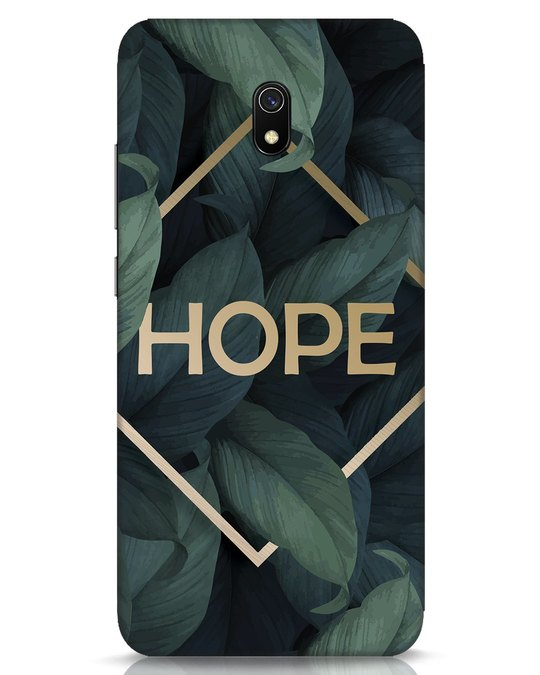 Shop Tropical Leaves Hope Xiaomi Redmi 8A Mobile Cover-Front