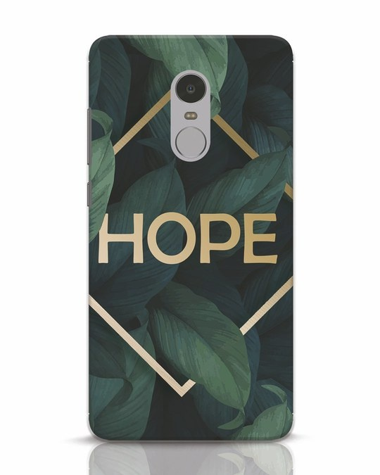 Shop Tropical Leaves Hope Xiaomi Redmi Note 4 Mobile Cover-Front