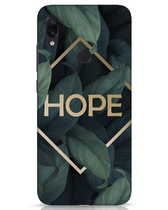 Shop Tropical Leaves Hope Xiaomi Redmi Note 7s Mobile Cover-Front
