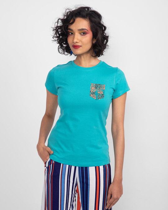 Shop Tropical Pocket Half Sleeve T-Shirt-Back
