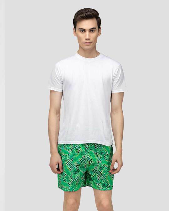 Shop What's Down | Tropical Scenery Boxer Shorts | Green Forest Boxers-Full