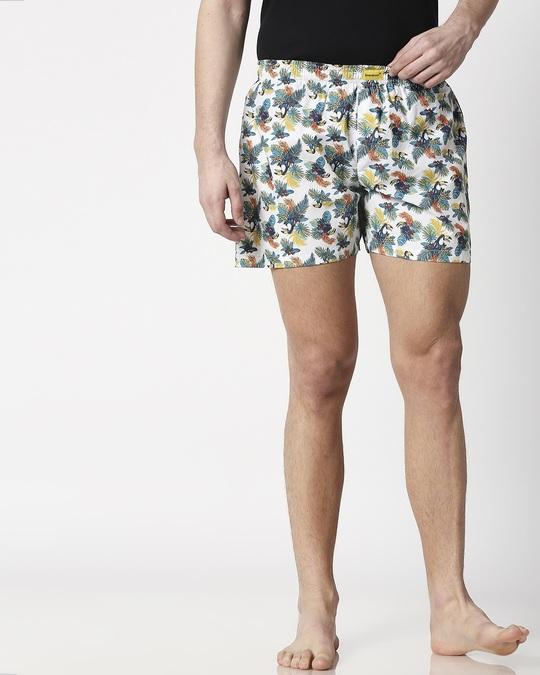 Shop Tropical Toucan Men's Printed Boxers-Front