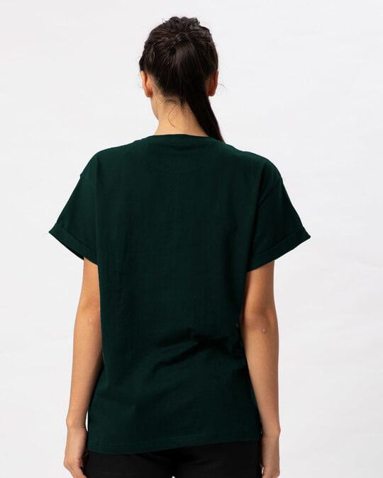 Shop Trouble Maker Typography Boyfriend T-Shirt-Full