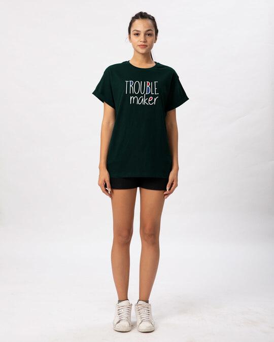 Shop Trouble Maker Typography Boyfriend T-Shirt