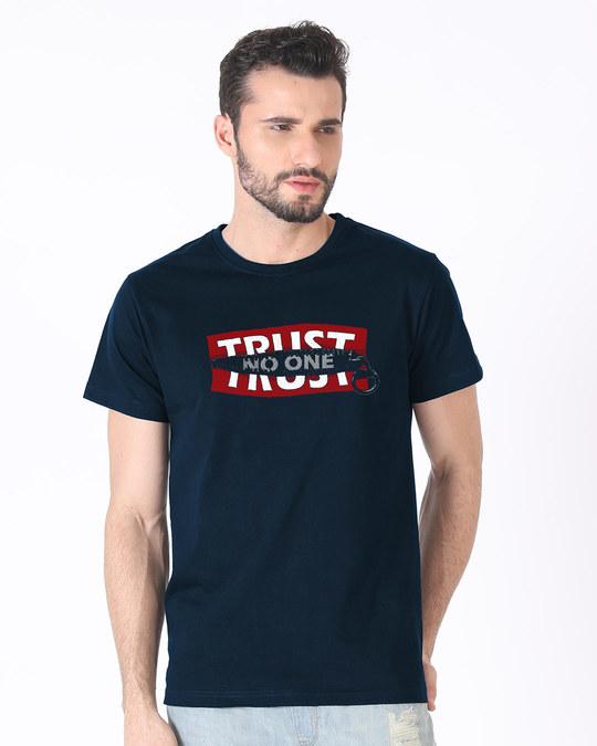Shop Trust Chain Half Sleeve T-Shirt-Back