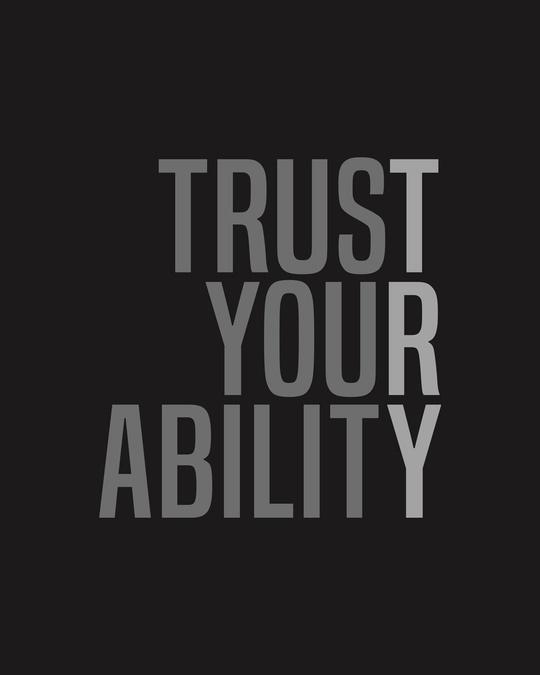 Shop Trust Your Ability Half Sleeve T-shirt Black