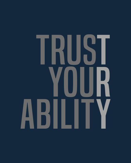 Shop Trust Your Ability Round Neck Vest Navy Blue