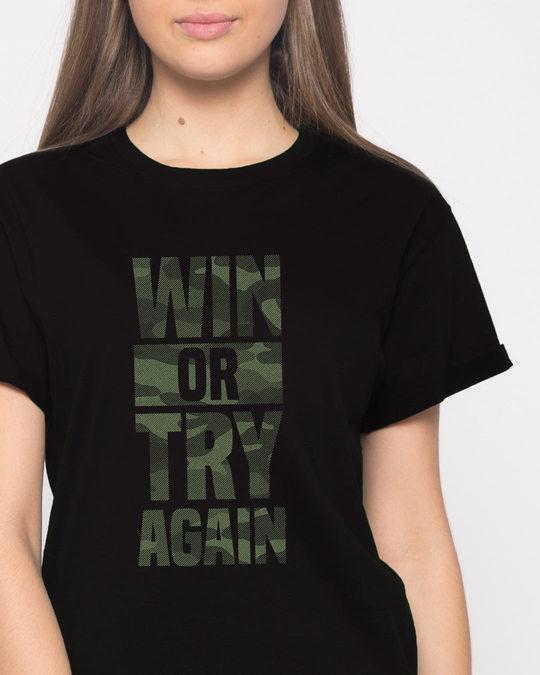 Shop Try Again Boyfriend T-Shirt-Front