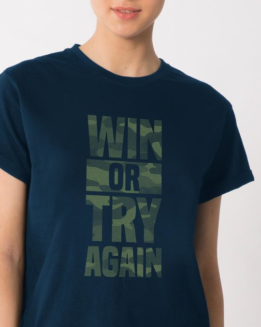 Shop Try Again Boyfriend T-Shirt-Front