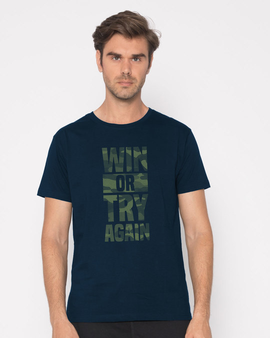 Shop Try Again Half Sleeve T-Shirt-Back